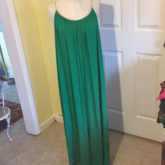 aa69c2a8d2f Ashley Stewart green maxi dress size 14 16